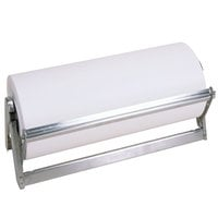 Bulman A503-36 Standard 36 inch Stainless Steel All-In-One Counter Mount / Freestanding Paper Dispenser / Cutter with Serrated Blade