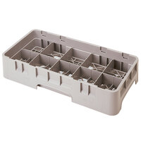 Cambro 10HS638184 Beige Camrack 10 Compartment 6 7/8 inch Half Size Glass Rack