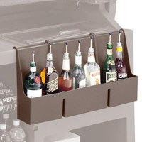 Cambro 730SR131 Dark Brown 7-Bottle CamBar Speed Rail