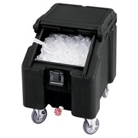 Cambro ICS100L4S110 Black Sliding Lid Portable Ice Bin - 100 lb. Capacity