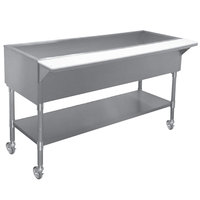 APW Wyott PCT-4 Four Well Portable Cold Food Table with Coated Legs and Undershelf