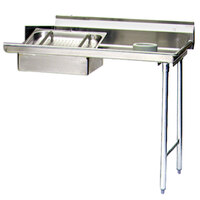 Eagle Group SDTR-60-16/4 60 inch Right Side 16 Gauge 430 Series Stainless Steel Soil Dish Table with Scrap Block