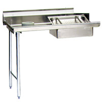 Eagle Group SDTL-48-16/4 48 inch Left Side 16 Gauge 430 Series Stainless Steel Soil Dish Table with Scrap Block