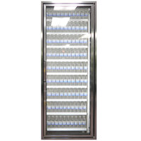 Styleline CL2472-NT Classic Plus 24 inch x 72 inch Walk-In Cooler Merchandiser Door with Shelving - Anodized Satin Silver, Right Hinge