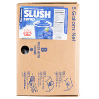 Carnival King 5 Gallon Bag in Box Blue Raspberry Slushy Syrup