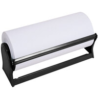 Bulman A501-30MB Standard 30 inch Black Steel All-In-One Paper Dispenser / Cutter with Serrated Blade