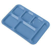 Carlisle 4398992 10 inch x 14 inch Sandshades Heavy Weight Melamine Right Hand 6 Compartment Tray