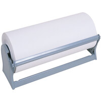 Bulman A501-20 Standard 20 inch Gray Steel All-In-One Paper Dispenser / Cutter with Serrated Blade
