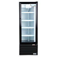 Avantco GDC10 21 inch Black Swing Glass Door Merchandiser Refrigerator with LED Lighting