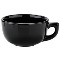 Tuxton BBF-1402 DuraTux Black 14 oz. Jumbo Cappuccino China Cup - 24/Case