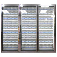 Styleline CL2672-NT Classic Plus 26 inch x 72 inch Walk-In Cooler Merchandiser Doors with Shelving - Anodized Satin Silver, Right Hinge - 3/Set