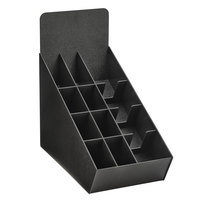 Vollrath LDS-4CUP Black Slanted Condiment, Cup, and Lid Organizer