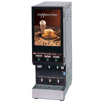 Cecilware GB3M10-LD Feature Flavor Series Triple Hopper Powdered Cappuccino Dispenser with Illuminated Front - 120V