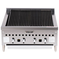 Vulcan VCCB25-201 Liquid Propane Low Profile 25 inch Radiant Charbroiler - 58,000 BTU