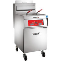 Vulcan 1VK65C-1 PowerFry5 65-70 lb. Natural Gas Floor Fryer with Computer Controls - 80,000 BTU
