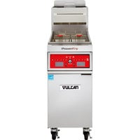 Vulcan 1VK85C-2 PowerFry5 85-90 lb. Liquid Propane Floor Fryer with Computer Controls - 90,000 BTU