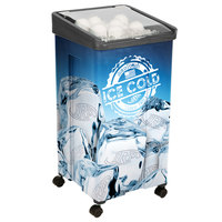 32 Qt. Black Micro Mobile Merchandiser / Cooler - 16 inch x 16 inch x 32 inch