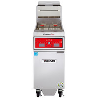 Vulcan 1VK45CF-1 PowerFry5 45-50 lb. Natural Gas Floor Fryer with Computer Controls and KleenScreen Filtration System - 70,000 BTU