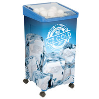 32 Qt. Blue Micro Mobile Merchandiser / Cooler - 16 inch x 16 inch x 32 inch