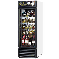 True GDM-23W-HC-LD White One Glass Door Refrigerated Wine Merchandiser - 23 Cu. Ft.