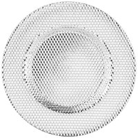 10 Strawberry Street DECO-340SLV Deco 13 inch Silver Charger Plate - 6/Case