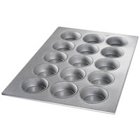 Chicago Metallic 43038 15 Mold Aluminized Steel Mini Cake Pan - 17 7/8 inch x 25 7/8 inch