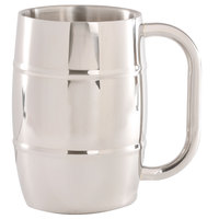 10 Strawberry Street SS-BEERMUG 16 oz. Stainless Steel Barrel Beer Mug