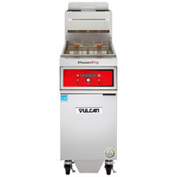 Vulcan 1TR45DF-2 PowerFry3 Liquid Propane 45-50 lb. Floor Fryer with Solid State Digital Controls and KleenScreen Filtration System - 70,000 BTU