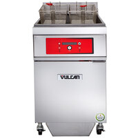 Vulcan 1ER85DF-2 85 lb. Electric Floor Fryer with Digital Controls and KleenScreen Filtration - 480V, 3 Phase, 24 kW