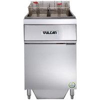 Vulcan 1ER85AF-1 85 lb. Electric Floor Fryer with Analog Controls and KleenScreen Filtration - 208V, 3 Phase, 24 kW