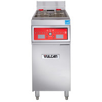 Vulcan 1ER50C-1 50 lb. Electric Floor Fryer with Computer Controls - 208V, 3 Phase, 17 kW