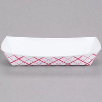 Southern Champion 7091 7 inch x 2 3/4 inch x 1 1/2 inch Red Check Paper Hot Dog Tray - 1000/Case