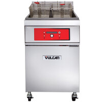 Vulcan 1ER85D-2 85 lb. Electric Floor Fryer with Digital Controls - 480V, 3 Phase, 24 kW