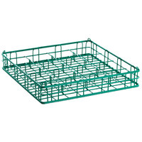 16 Compartment Catering Glassware Basket - 4 3/8 inch x 4 3/8 inch Compartments