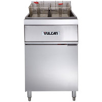 Vulcan 1ER85A-2 85 lb. Electric Floor Fryer with Analog Controls - 480V, 3 Phase, 24 kW