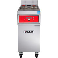 Vulcan 1ER50D-1 50 lb. Electric Floor Fryer with Digital Controls - 208V, 3 Phase, 17 kW