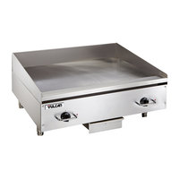 Vulcan RRE24E 24 inch Electric Countertop Griddle with Rapid Recovery Plate and Snap-Action Thermostatic Controls - 240V, 3 Phase, 10.8 kW
