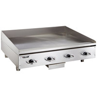 Vulcan RRE48E 48 inch Electric Countertop Griddle with Rapid Recovery Plate and Snap-Action Thermostatic Controls - 480V, 3 Phase, 21.6 kW