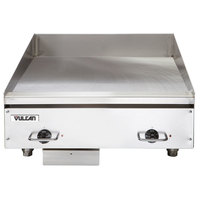 Vulcan HEG24E 24 inch Electric Countertop Griddle with Snap-Action Thermostatic Controls - 480V, 3 Phase, 10.8 kW