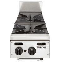 Vulcan VHP212 Liquid Propane 12 inch 2 Burner Countertop Range - 55,000 BTU