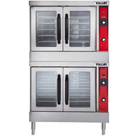 Vulcan VC44GC-LP Liquid Propane Double Deck Full Size Gas Convection Oven with Computer Controls - 100,000 BTU