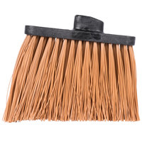 Carlisle 3686825 Duo-Sweep Heavy-Duty Angled Broom Head with Unflagged Tan Bristles - 12/Case