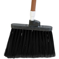 Carlisle 3686703 Duo-Sweep Medium Duty Angled Broom Head with Flagged Black Bristles - 12/Case