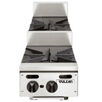 Vulcan VHP212U Natural Gas 12 inch 2 Burner Step Up Countertop Range - 60,000 BTU