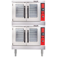 Vulcan VC33ED-480/1 Double Deck Full Size Electric Convection Oven with Solid State Controls - 480V, 1 Phase, 25 kW