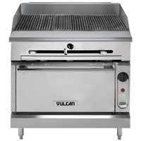 Vulcan VTC36S-NAT Natural Gas 36 inch Gas Floor Model Infrared Charbroiler with Standard Oven Base - 116,000 BTU