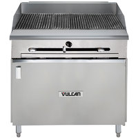 Vulcan VTC36B-LP Liquid Propane 36 inch Gas Floor Model Infrared Charbroiler with Cabinet Base - 66,000 BTU