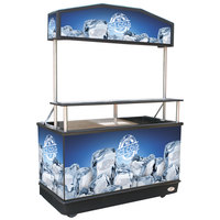 Package Elite 62 inch Ice Down Mobile Cart with Illuminated Canopy