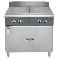 Vulcan V2FT36B-NAT V Series Natural Gas 36 inch Heavy-Duty Range with 2 French Plates and Cabinet Base - 50,000 BTU