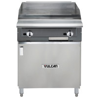 Vulcan VGM24B-NAT V Series Natural Gas 24 inch Heavy-Duty Manual Range with Griddle Top and Cabinet Base - 60,000 BTU